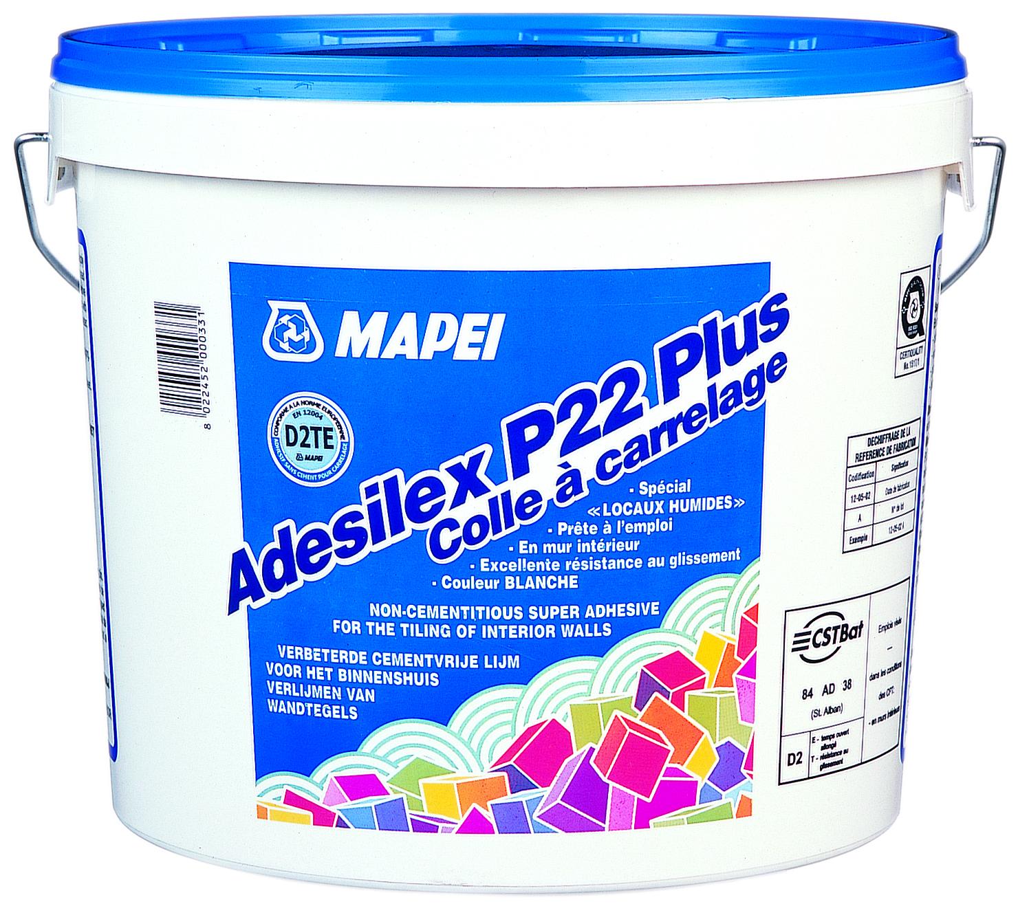 ADHESIF SANS CIMENT ADESILEX P22 PLUS - SEAU 5 KG