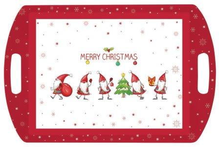 """PLATEAU """"GNOMES MERRY CHRISTMAS"""" 52X30 CM"""